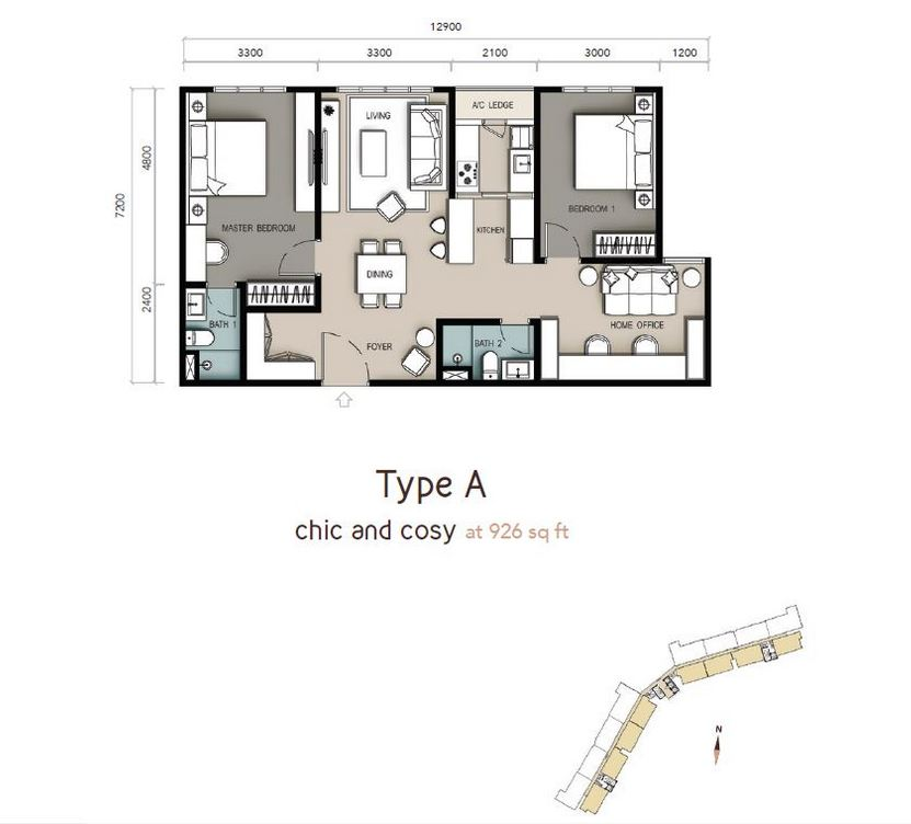 Type A floorplan-c