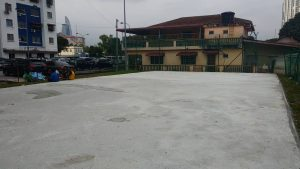 PPR Seri Cempaka sports court ready for a splash of colour